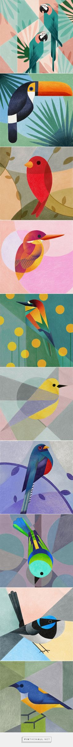 Geometric birds (Procreate-iPad Pro) on Behance - created via https://pinthemall.net