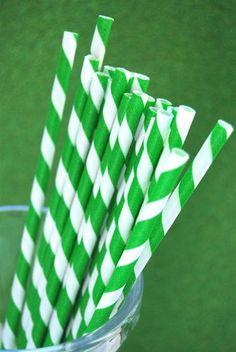 Bulk green straws