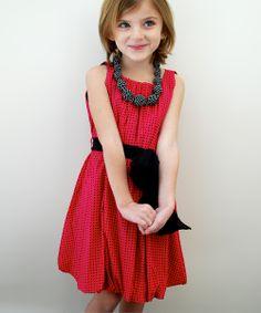 Pink Polka Dot Palais Dress - Toddler & Girls | Daily deals for moms, babies and kids