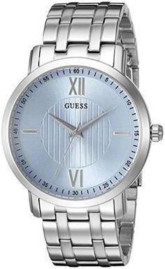 GUESS Men's U0716G1 Classic Silver-Tone Watch $93