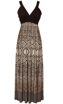 japanese motif maxi dress