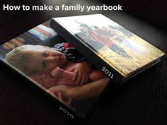 Make a family yearbook. 26 Ways To Preserve Your Kids' Memories Forever Family Yearbook, Yearbook Photos, Yearbook Ideas, Foto Online, Create A Family, Family Memories, Baby Memories, Making Memories, Photo Projects