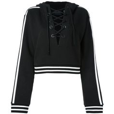 Puma Fenty x Rihanna laced sweatshirt (830 RON) ❤ liked on Polyvore featuring tops, hoodies, sweatshirts, black, camisolas, sweaters, lace up top, hooded sweatshirt, lace up hoodie and hooded pullover sweatshirt