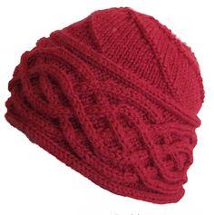 Ravelry: Annikin palmikkopipo pattern by Satu Metsola Beanie Pattern Free, Crochet Cowl Free Pattern, Crochet Headband Pattern, Easy Crochet Patterns, Hat Patterns, Crochet Baby Mobiles, Knitted Hats, Crochet Hats, Knitting Charts