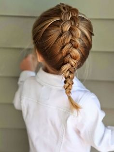 braided hairstyles for girls french braid  #little #girl #hair