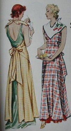 Full length glamorous aprons