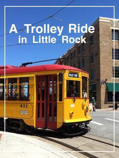 A Trolley Ride in Little Rock Arkansas | Road Trip Pit Stop in Little Rock with kids | Bambini Travel