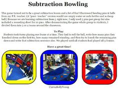 subtraction bowling game