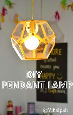 Luminária com folhas de acetato é diferente, mas pode frequentar qualquer cômodo de sua casa (Foto: vikalpah.blogspot.com.br)