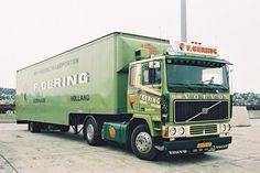 Volvo F 10 4x2 met gesloten oplegger van Gering in Kerkrade