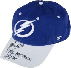 Steven Stamkos Lightning Signed Cap with Hat Trick Insc - Fanatics 27e11b684