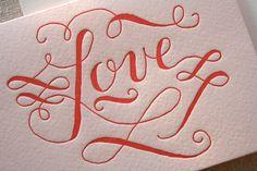 Gorgeous Love Letterpress Card via Etsy.