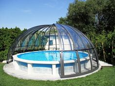 Above Ground Pool Landscaping, Above Ground Pool Decks, In Ground Pools, Homemade Pool Heater, Homemade Pools, Homemade Swimming Pools, Oberirdische Pools, Cool Pools, Backyard Pool Designs