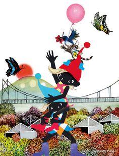 藤城清治美術館 fujishiro collage