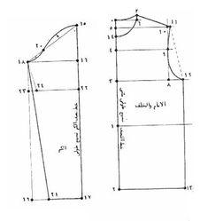 طريقة رسم باترون بلوزة