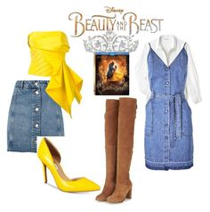 """""""B & B"""" by alejandra-diaz-rincon on Polyvore featuring Topshop, Rubin Singer, Disney, INC International Concepts, Lacoste, J Brand, BeautyandtheBeast and contestentry"""