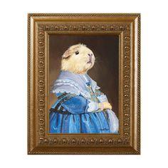 """Guinea Pig Magnet, """"Guinea Pig In A Blue Dress"""" Refrigerator Magnet, Guinea Pig Gifts"""