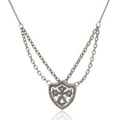 "Love Rock By Loree Rodkin White Gold GP Crystal 22"" Maltese Cross Necklace #LoveRockByLoreeRodkin #Cross"