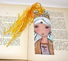 Saint Ludwine   Laminated Bookmark  Handmade  by FlorLarios, $8.00