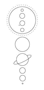 Solar system tattoo idea