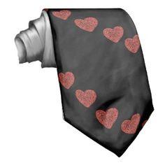 Straight to My Heart Tie #Tie #Love #Hearts #Valentine's #Red