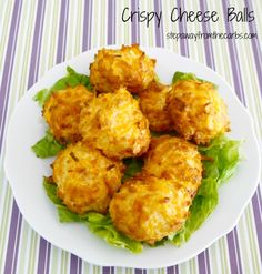 Crispy Cheese Balls - low carb snack or party food recipe