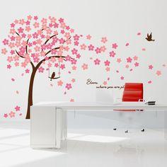 Muursticker mooie bloesem boom roze XL voor de babykamer of kinderkamer! ✓Zeer scherp geprijsd ✓Bestel eenvoudig online ✓snel thuisbezorgd