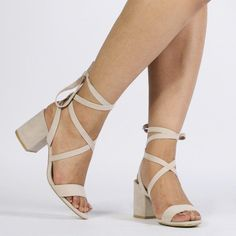 8864a1204748 Sophie Heeled Sandals in Nude Faux Suede  Promshoes Homecoming Shoes