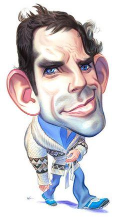Ben Stiller / Entertainment Weekly : watercolor : John Kascht | Caricature Portraits