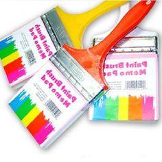 Designer's Paint Brush Hanging Memo Pad