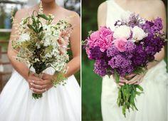 {Wedding Trends} : Rustic Vintage Wedding Bouquets  | bellethemagazine.com