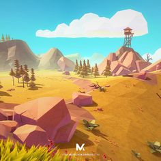 Game design 490892428131963347 - Source by Game Environment, Environment Concept Art, Environment Design, Fantasy Landscape, Landscape Art, Game Design, Crea Design, Low Poly Games, Paisajes