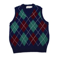 http://chicerman.com  vintagemensgoods:  Vintage 1980s McGregor Navy Blue Argyle Wool Blend Golf Sweater Vest Mens Size Small available at http://ift.tt/1gKDmGD  #summerlook