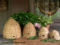 Beehive Decor & Bumble Bee Decor We Love - The Beehive Shoppe Bee House, Bee Skep, Vintage Bee, Bee Happy, Bees Knees, Queen Bees, Bee Keeping, Bird Houses, Making Ideas