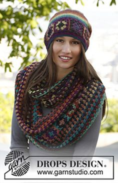 magic shawl hat with squares free crochet pattern