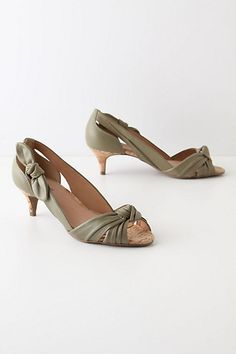 Knotted Kitten Heels - StyleSays