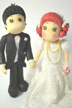 Topo de Bolo de Casamento que fizemos com estilo Vintage da Coleção Magnólia.  Wedding