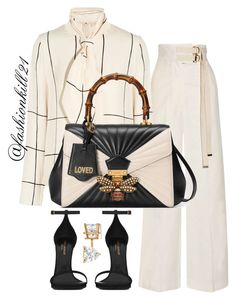 Untitled #1428 by fashionkill21 on Polyvore featuring moda, Tory Burch, Marni, Yves Saint Laurent, Gucci and Allurez