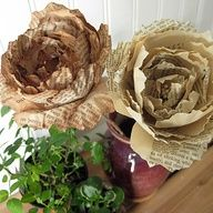 Tea stained paper peonies.