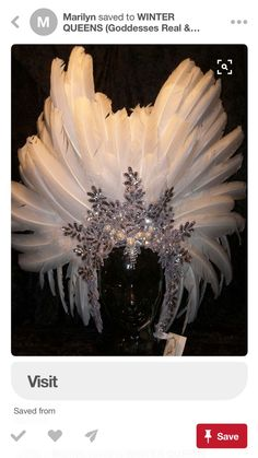 Sparkling Ice in a White Raven Crown - perfect coronet for Winters Queen Carnival Costumes, Diy Costumes, Dance Costumes, Halloween Costumes, Carnival Outfits, Ice Queen Costume, Tiaras And Crowns, Headgear, Samba
