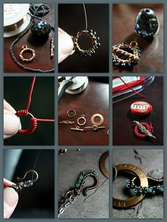 DIY clasp embellishments - one using DMC Color Infusions Memory Thread.