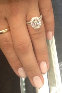 Micro pave split shank with an oval diamond. A beauty!