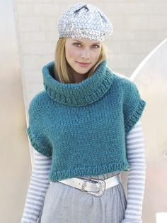 Cropped top knitting pattern in Finnish