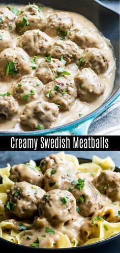 Easy Swedish Meatballs are a traditional Swedish dish with perfectly browned, flavorful homemade meatballs coated in a rich and creamy sauce. Make Ikea's Swedish meatballs at home with this easy recipe. Pork and ground beef are rolled together. Swedish Meatball Recipes, Swedish Recipes, Easy Swedish Meatballs, Easy Homemade Meatballs, Meatballs And Noodles Recipe, Recipes With Pork Meatballs, Swedish Meatball Casserole Recipe, Sauce For Meatballs Easy, Gourmet