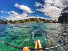 goat island new zealand clear bottom kayak