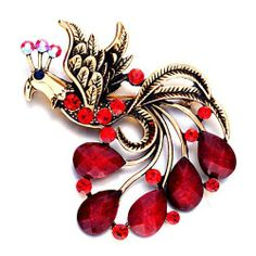 Pugster January Birthstone Garnet Red Swarovski Crystal Diamond Accent Tail Phoenix Brooches And Pins Pugster. $12.49. One free elegant cushioned Gift box available with every order from Pugster.. Exquisitely detailed designer style with Swarovski cystal element.. Money-back Satisfaction Guarantee.. Occasion: casual wear,anniversary, bridal, cocktail party, wedding. Can be pinned on your gown or fastened in your hair with bobby pins.