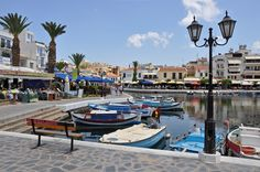 Agios Nikolaos Άγιος Νικόλαος is a seaside town on the Greek island of Crete, lying east of Heraklio. Greece Tourism, Air Force One, Destinations, Travel Store, Crete Island, Heraklion, Greek Isles, Crete Greece, Places Ive Been
