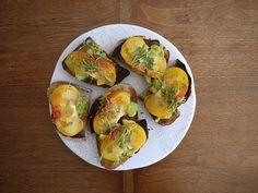 avocado. heirloom tomatoes, micro cilantro tops, keylime juice, olive oil, sea salt