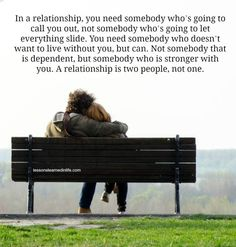 Lessons Learned in Life | Two people, not one.