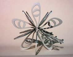 Large modern Christmas tree topper / star by BlowtorchStudio